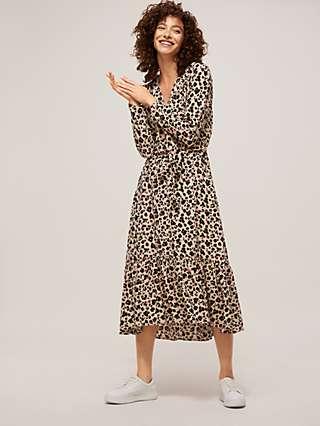 Somerset by Alice Temperley Powder Leopard Midi Dress, Multi