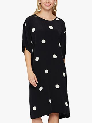 Masai Copenhagen Nabi Spot Midi Dress, Black