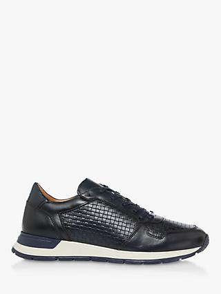 Dune Torin Embossed Weave Leather Trainers