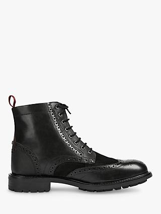 Ted Baker Wadelin Leather Boots, Black