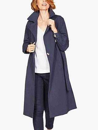 Thought Callie Organic Cotton Trench Coat, Navy