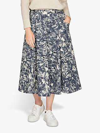 Thought Kinsley Printed Midi Skirt, Vanilla Cream