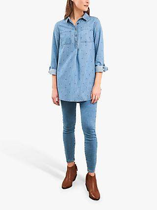 White Stuff Kinley Tunic Top, Mid Denim