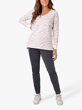 Live Unlimited Curve Zebra Sweatshirt, White/Multi