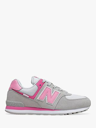 New Balance Children's 574 Varsity Sport Suede Lace Up Trainers