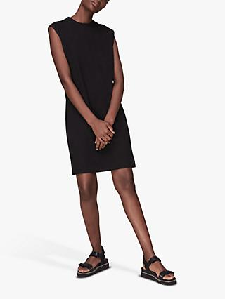 Whistles Easy Sleeveless T-Shirt Dress, Black