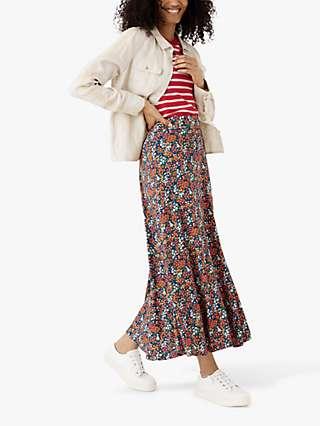 Brora Liberty Floral Maxi Skirt, Marigold Sprig
