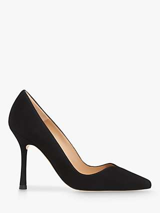 L.K.Bennett x Royal Ascot Faye Suede Sweetheart Court Shoes, Black
