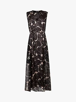 AllSaints Karian Hope Silk Blend Dress, Black
