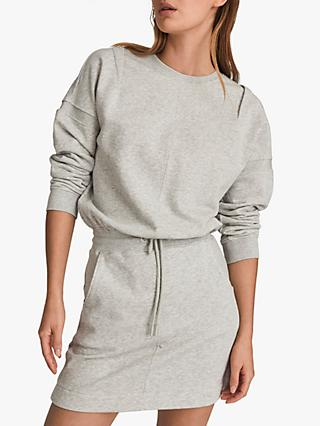 Reiss Jetta Jersey Dress, Grey Marl