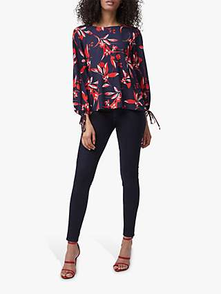 French Connection Eliva Crepe Light Long Sleeve Top