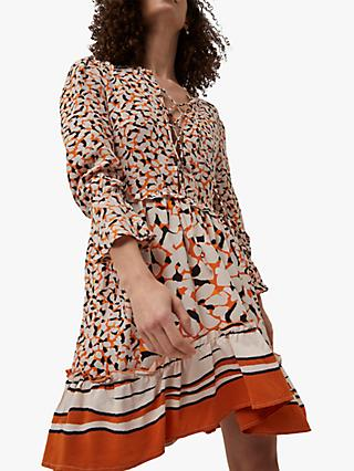French Connection Ellie Floral Print Dress, Copper Sunset Multi