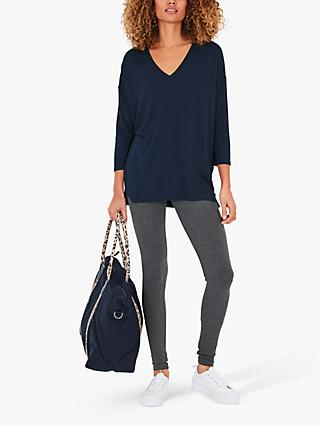 hush Laredo Jersey V Neck Top
