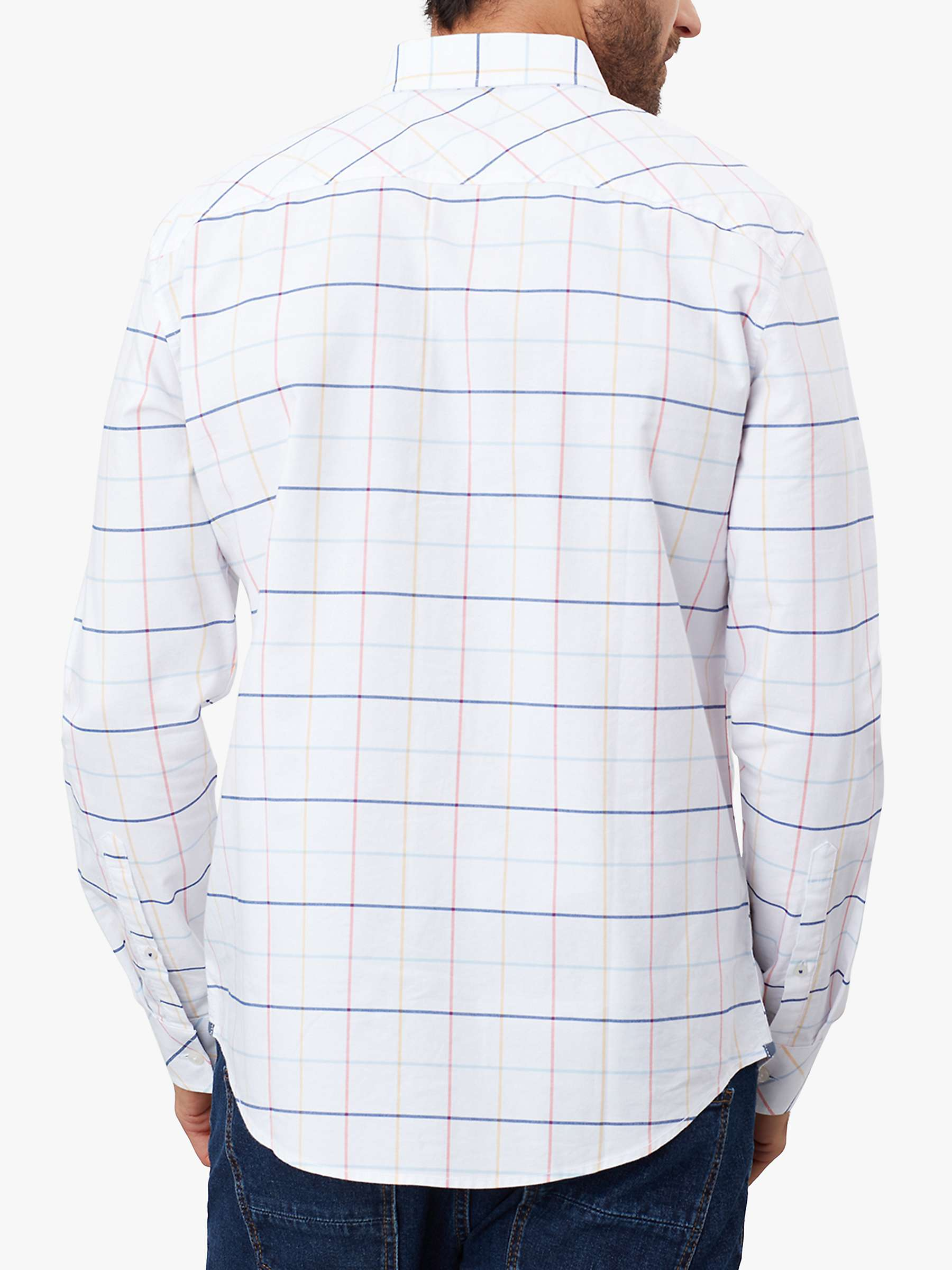 Mens Joules Welford Shirt in White Blue Check all sizes M to 3XL