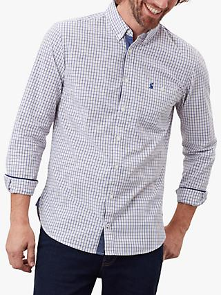 Joules Abbott Classic Fit Check Shirt, Brown/Multi