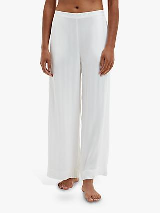 Calvin Klein Straight Leg Woven Pyjama Bottoms, White