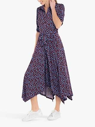 Jolie Moi Handkerchief Hem Shirt Dress