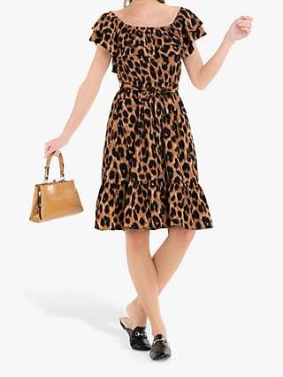 Jolie Moi Printed Ruffle Dress
