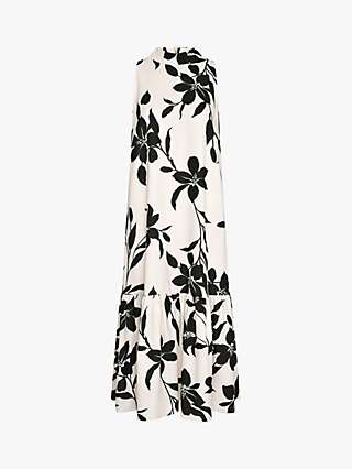 Ro&Zo Floral Print Dress, Neutral/Multi