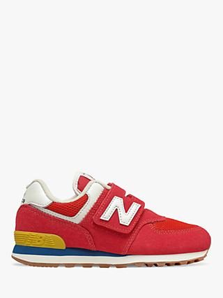 New Balance Children's 574 Suede Riptape Trainers