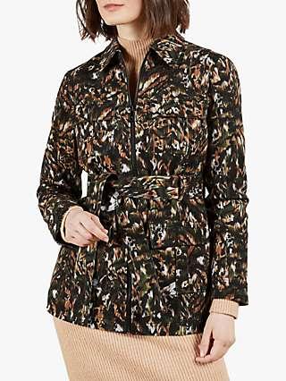 Ted Baker Inniza Urban Camo Print Utility Jacket, Khaki