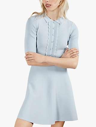 Ted Baker Tilliii Mini Dress, Light Blue