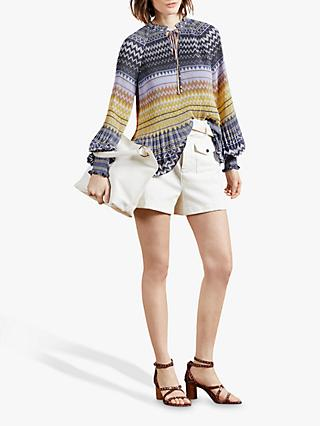Ted Baker Deliie Abstract Stripe Top, Multi