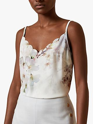 Ted Baker Ivvey Floral Cami Top, White