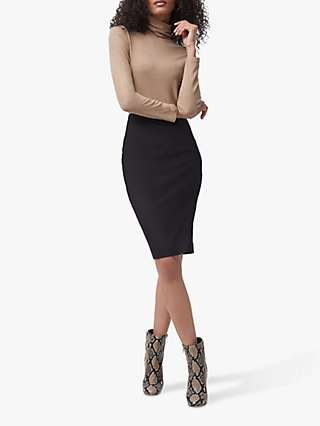 French Connection Fino Pencil Skirt, Black