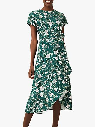 Phase Eight Dee Floral Dress, Bottle Green