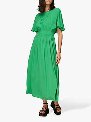 Whistles Amelia Cape Dress, Green