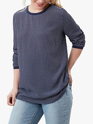 Joules Keegan Spot Crepe Shell Top, Navy