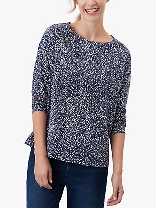 Joules Marina Speckle Jersey Top, Navy