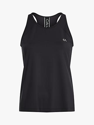 Calvin Klein Performance Mesh Back Tank Top, CK Black