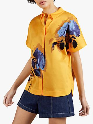 Ted Baker Aidenn Floral Print Shirt, Yellow