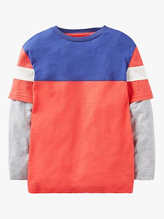 Mini Boden Boys' Double Layer T-Shirt, Strawberry Tart Red