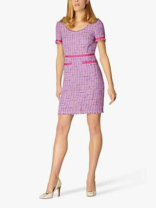L.K Bennett Albers Tweed Shift Dress, Lilac