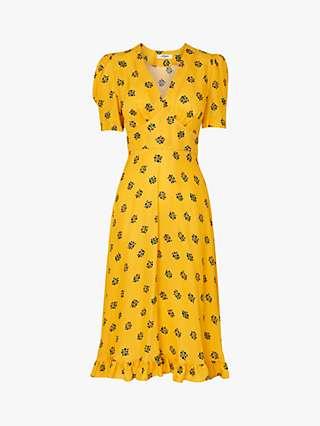 L.K.Bennett Elson Floral Print Dress, Yellow