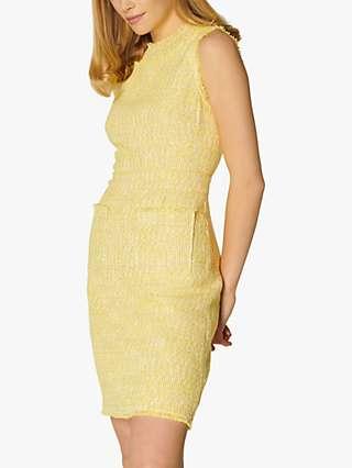 L.K Bennett Amalia Tweed Shift Dress, Yellow