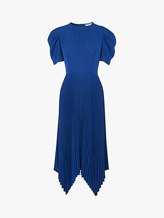 L.K.Bennett Aveline Pleated Dress, Blue