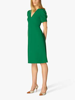 L.K Bennett Bettina Crepe Fit and Flare Dress, Evergreen