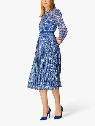 L.K Bennett Avery Heart Spot Print Midi Dress, Blue