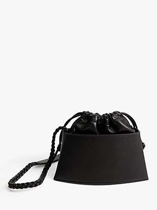 Mango Rigid Mini Cross Body Bag, Black