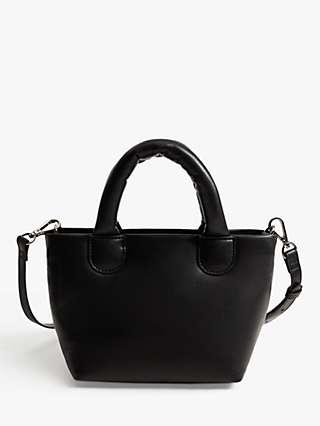 Mango Quilted Mini Cross Body Bag, Black