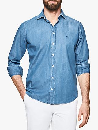 Hackett London Slim Fit Denim Shirt, Blue
