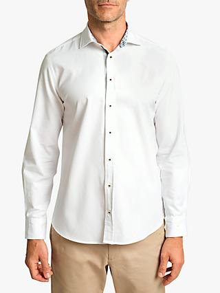 Hackett London Cotton Oxford Shirt, White