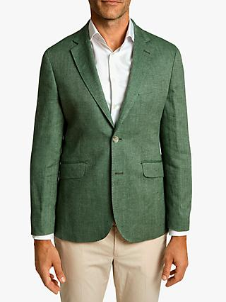Hackett London Linen Cotton Herringbone Blazer