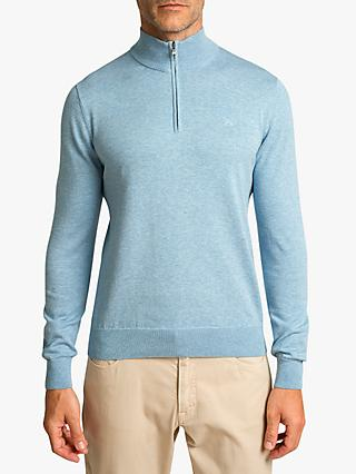 Hackett London Cotton Silk Half-Zip Jumper