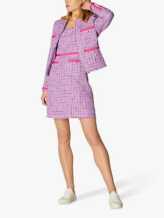 L.K Bennett Albers Tweed Jacket, Lilac