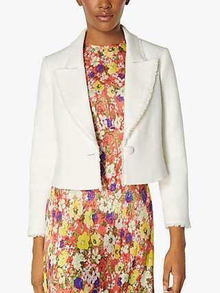 L.K Bennett Ellen Tweed Jacket, Cream